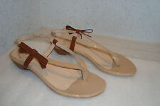 Amalfi By Rangoni Womens NWOB Patent Tan Brown Sandals Shoes 7 MED NEW