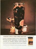 1965 Sunsweet Prunes Print Ad Fresh Idea for Breakfast Prunes in OJ