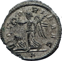 AURELIAN 270AD Silvered Bronze Denarius  Ancient Roman Coin w VICTORY  i73174