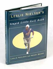 First Edition Signed by Leslie Nielsen's Stupid Little Golf Book Parody HC w/DJ