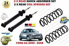 FOR FORD KA 1.0 1.3 1.6 2000-2008 2X REAR SHOCK ABSORBER SET + 2X COIL SPRINGS