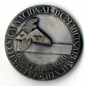 Medalla V Feria Técnica Nacional de Maquinaria Textil Barcelona 1970