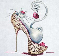 Cross Stitch Kit ~ Design Works Fashionista Cat on Shoe with Purse #DW2744