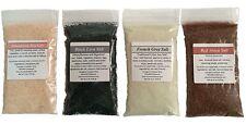 Gourmet Sea Salt Sampler: 4 salts: Himalayan, French Grey, Red Alaea, Black Lava