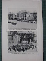 1916 WWI WW1 Stampa ~ Tedeschi IN Namur ~ Militare Fascia da Gioco