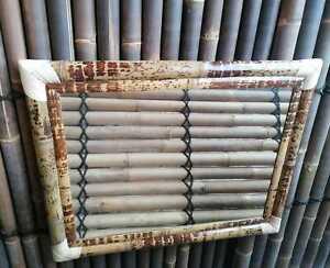 BIHL Bambusspiegel Spiegel Wandspiegel Bambus Badspiegel Tigerbambus 70 x 90 cm