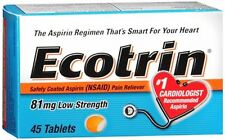 Ecotrin 81 mg Low Strength Tablets 45 Tablets (Pack of 5)