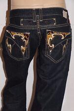 New Men's ROBIN'S JEAN sz 38 #BSD5365 YELPYT -Straight Leg Leather Studded Flaps