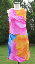 PREMISE Colorful Medium Weight Polyester/Spandex Sleeveless Shift Dress Sz S