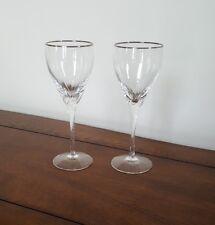 2 Lenox Encore Platinum Trim Wine Glasses