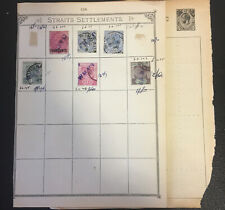 Straits Settlements Stamp, 1882-1937, 11 Used Stamp