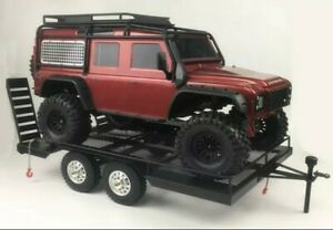RTR RC crawler trailer for 1/10 Rc Rock Crawler rc Truck Trx4 Axial Scx10 CC01