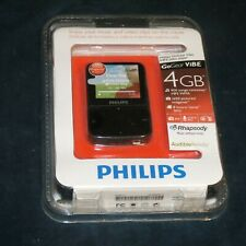 sh4 PHILIPS GoGear ViBe 4gb Black MP3 video player New & Sealed