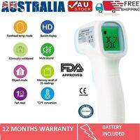 Forehead Non Contact Infrared Thermometer Laser Digital Gun LCD accurate