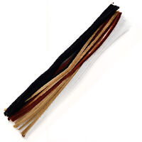 "Pipe Cleaners Mixed Brown Black White 30cm 12"" -  Pack of 30 - UK Stockist"