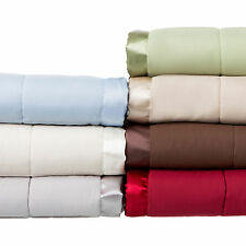 Solid Colored Microfiber Down Alternative Blanket King, Chocolate