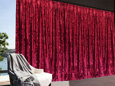 Large Thick Velvet Curtains Stunning Flocking 600x265cm + 4m blockout+30hooks