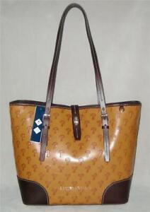 NWT Dooney & Bourke PHILLIES Dover Tote Shoulder Bag Purse Women COGNAC MSRP$448