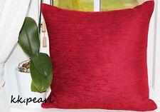 "John Lewis Deep Red ""Zambezi"" Cushion Cover Furnishing Fabric 16"" Double Sided"
