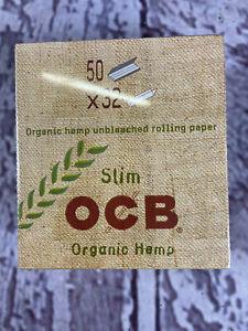 50 x 32 Blatt OCB King Size Slim Organic Hemp Papers Blättchen Zigarettenpapier