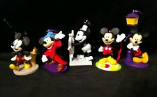Disney Mickey Mouse Christmas Ornament 90th Anniversary set of 5 Steamboat Willy