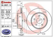 Disc Brake Rotor-Premium UV Coated OE Equivalent Rotor Rear Brembo 09.9037.11