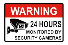Surveillance Security Camera Alarm Sticker Warning Decal 10PCS 2x3""