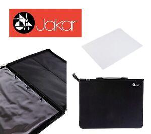 Jakar Black Portfolio Hard Carry Case Ring Binder Project Art Work Plans Folder