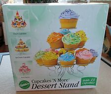 Wilton Cupcakes 'N More Dessert Stand - Holds 13 cupcakes - metal finish