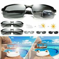 Men's Polarized Photochromic Sunglasses UV400 Driving Transition Lens Glasses UK