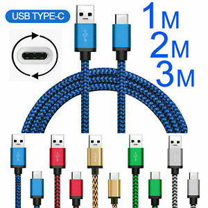 Type C USB C Fast Charge Data Charger Cable Lead For Huawei P40 P30 P20 Pro Lite