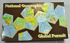 National Geographic Global Pursuit Board Game 1987 USA w/World Map from 1987
