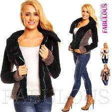 New Women's Fleece Jacket Size 10 12 6 8 Soft Warm Winter Outerwear XS S M L