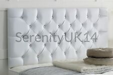 """Faux Leather Chesterfield l Headboard Bedhead / Height 26"""" / 8 Colours"""