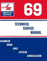 1969 AMC AMX Javelin Rebel Rambler Shop Service Repair Manual