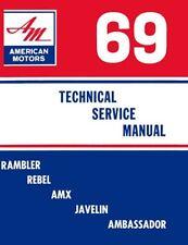 1969 AMC AMX Javelin Rebel Rambler Shop Service Repair Manual
