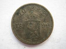Norway 1899 silver 10 Ore GF