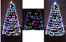 Christmas Tree Fibre Optic Pre-Lit Xmas Decorations Lights 2ft 3ft 4ft 5ft 6ft
