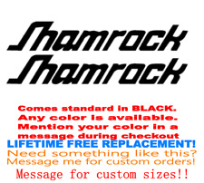 """YOUR COLOR CHOICE. PAIR OF 6/"""" X 28/"""" SHAMROCK KEEL DRIVE  BOAT HULL DECALS"""
