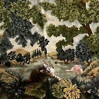 Tapisserie Ancienne Aubusson French Tapestry Point de Croix Fait Main 190x132cm