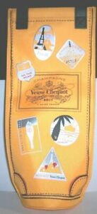 NEW VEUVE CLICQUOT CHAMPAGNE INSULATED COOLER BOTTLE BAG-14 INCHES TALL BUBBLEY