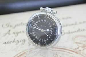HAMILTON 4992B Navigation Deck Watch 24 Stunden Taschenuhr pocket watch G.C.T