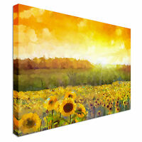 Sunflower Sunrise Canvas Wall Art Picture Print