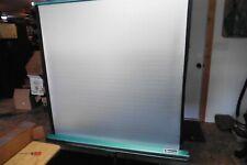 """Vtg projector screen color Da-Lite dalite cavalier slide & movie box 40"""" x 40"""""""