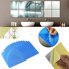16PCS Acrylic Square Mirror Wall Stickers 3D Removable Decal Home Wall DIY WKCA