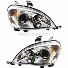 NEWMAR ESSEX 2004 2005 2006 CHROME HEADLIGHTS HEAD LIGHTS FRONT LAMPS PAIR RV