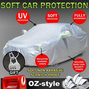 Aluminum Car Cover Outdoor Full Protection Auti-UV Waterproof For BMW 3/5 Series
