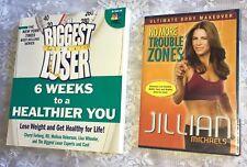 JILLIAN MICHAEL'S Biggest Loser Book & Dvd Lot NEW