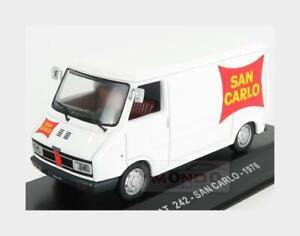 Fiat 242 Van 1 Series San Carlo 1976 White Red EDICOLA 1:43 VCDE020