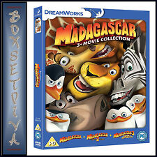 MADAGASCAR - THE COMPLETE COLLECTION 1 2 & 3  *BRAND NEW DVD BOXSET*
